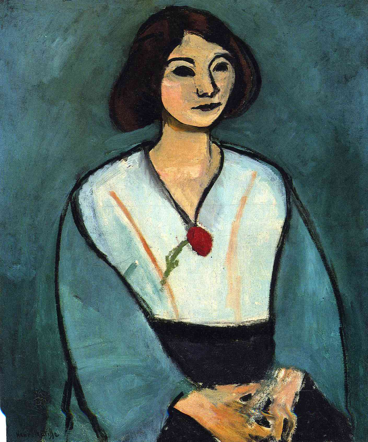 Henri Matisse - Woman in Green with a Carnation 1909