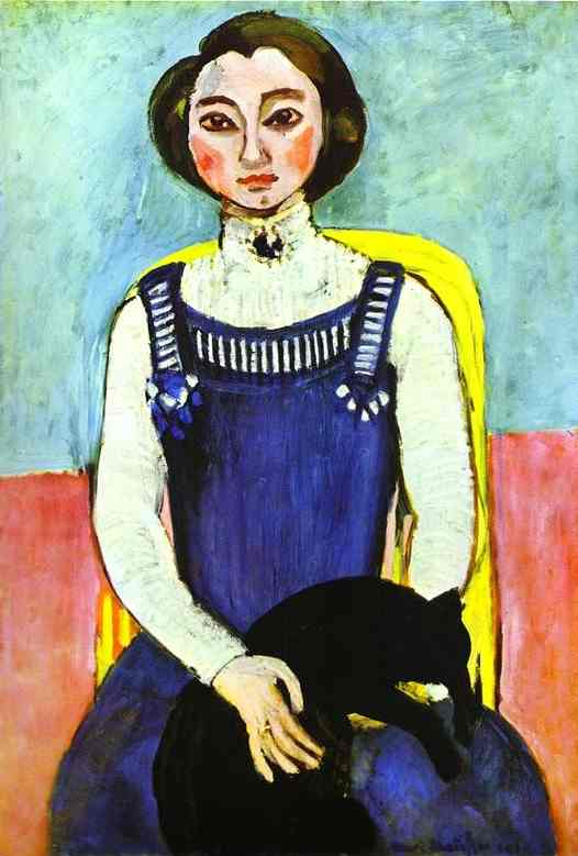 Henri Matisse - Girl with A Black Cat 1910