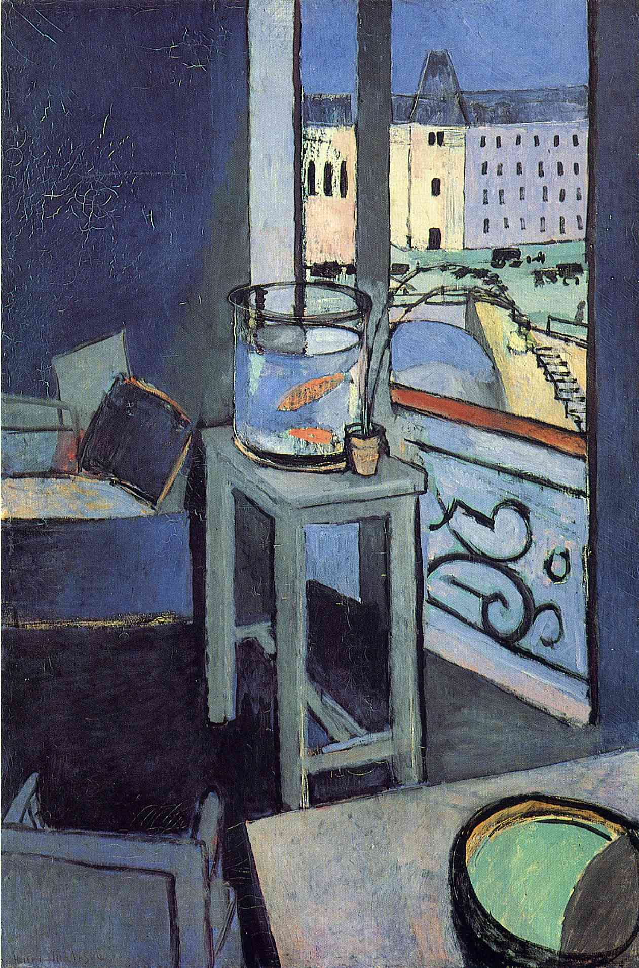 Henri Matisse - Interior with a Bowl with Red Fish 1914