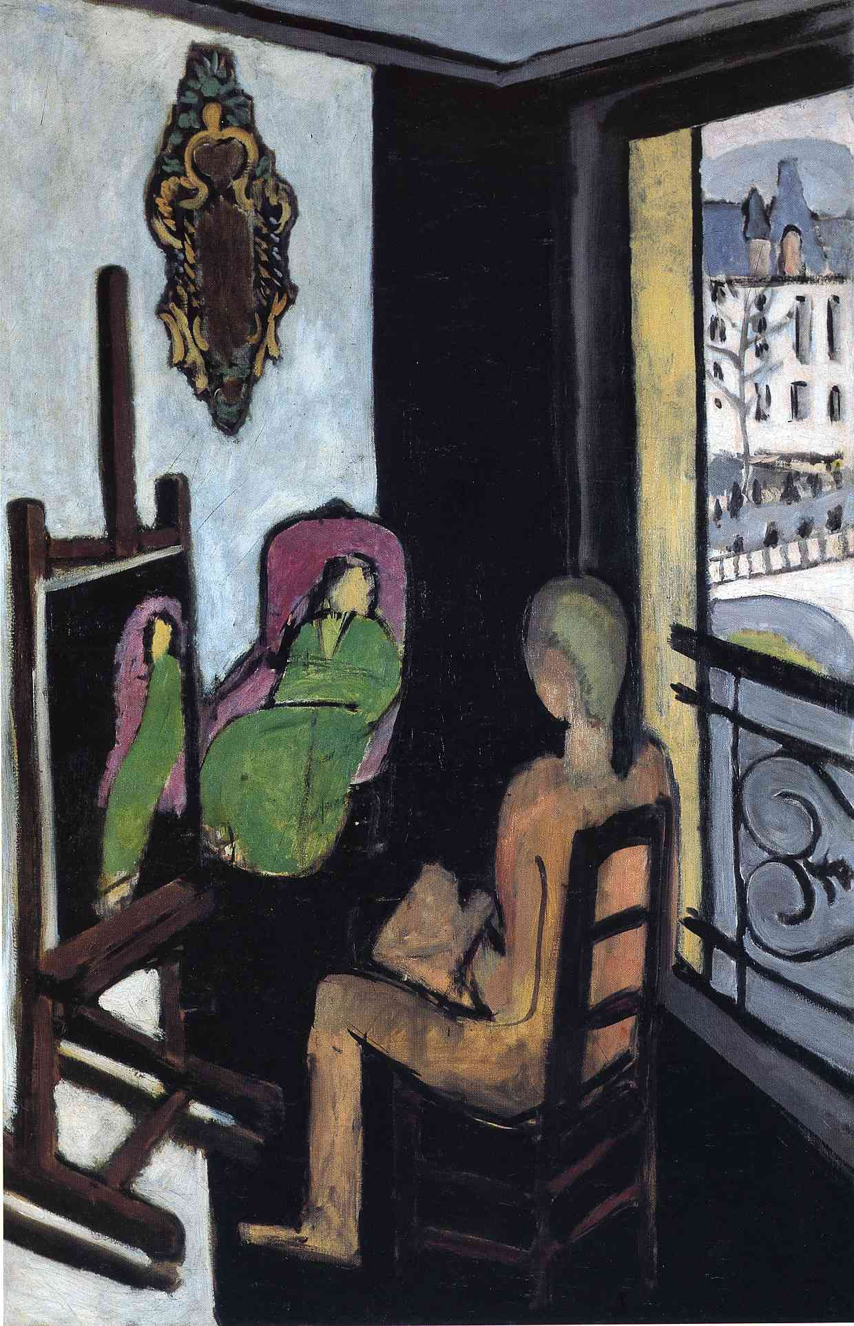 Henri Matisse - The Painter and his Model 1917