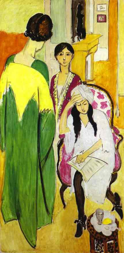 Henri Matisse - The Three Sisters with a Sculpture, left panel from The Three Sisters Triptych  1917