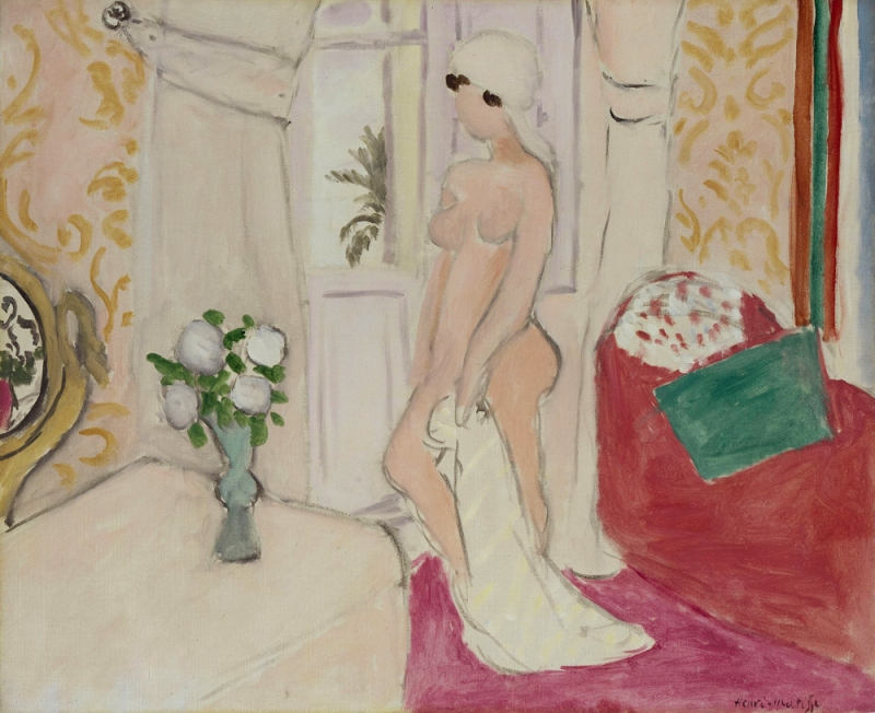 Henri Matisse -Young Girl with the Vase of Flowers or Pink Nude 1921