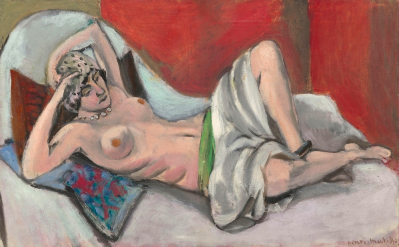 Henri Matisse - Reclining Nude with a Drape 1923-1924