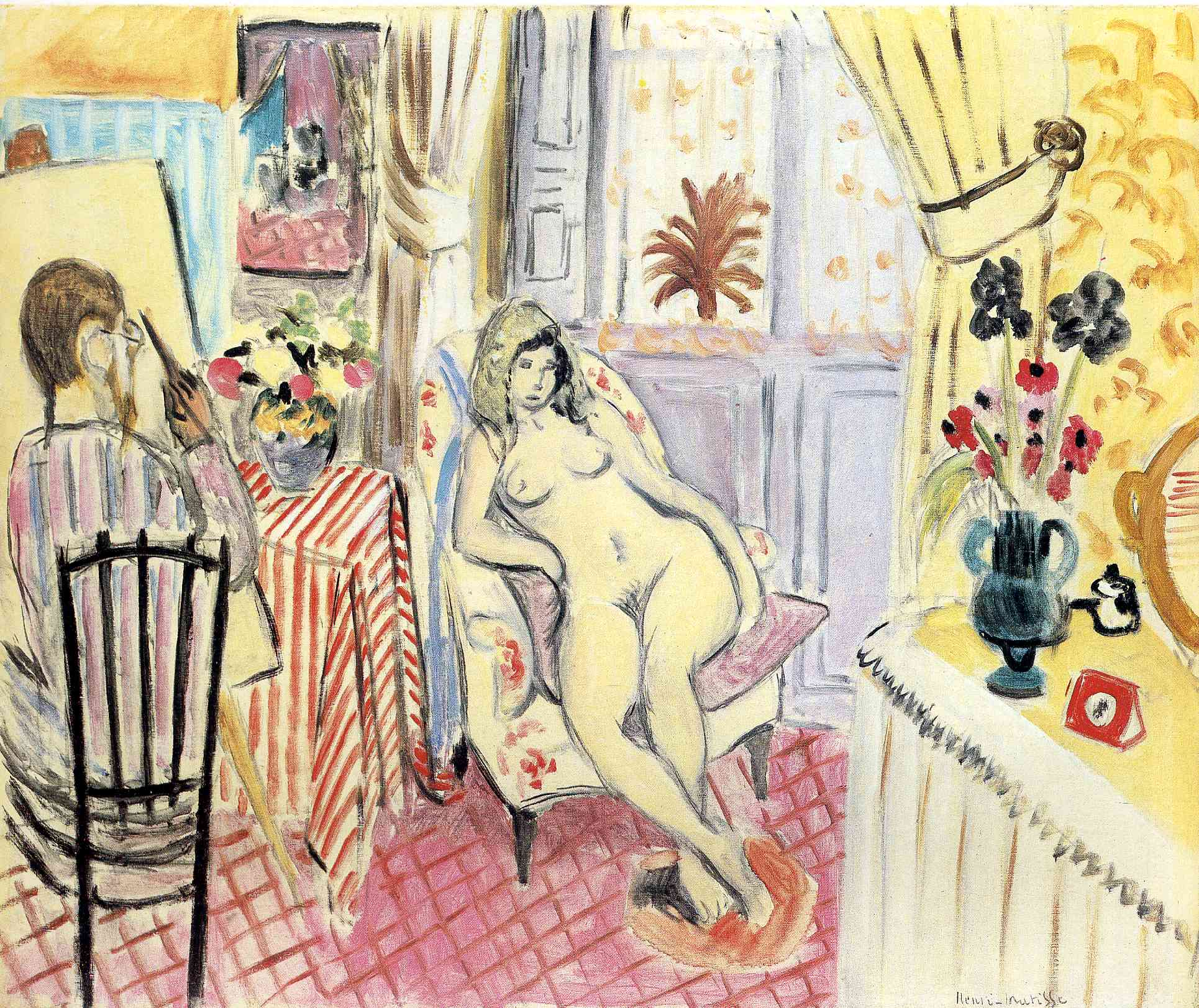 Henri Matisse - The Artist and his model 1919