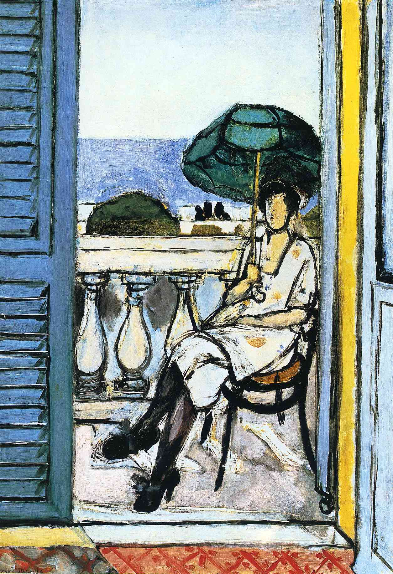 Henri Matisse - Woman with a Green Parasol on a Balcony 1919