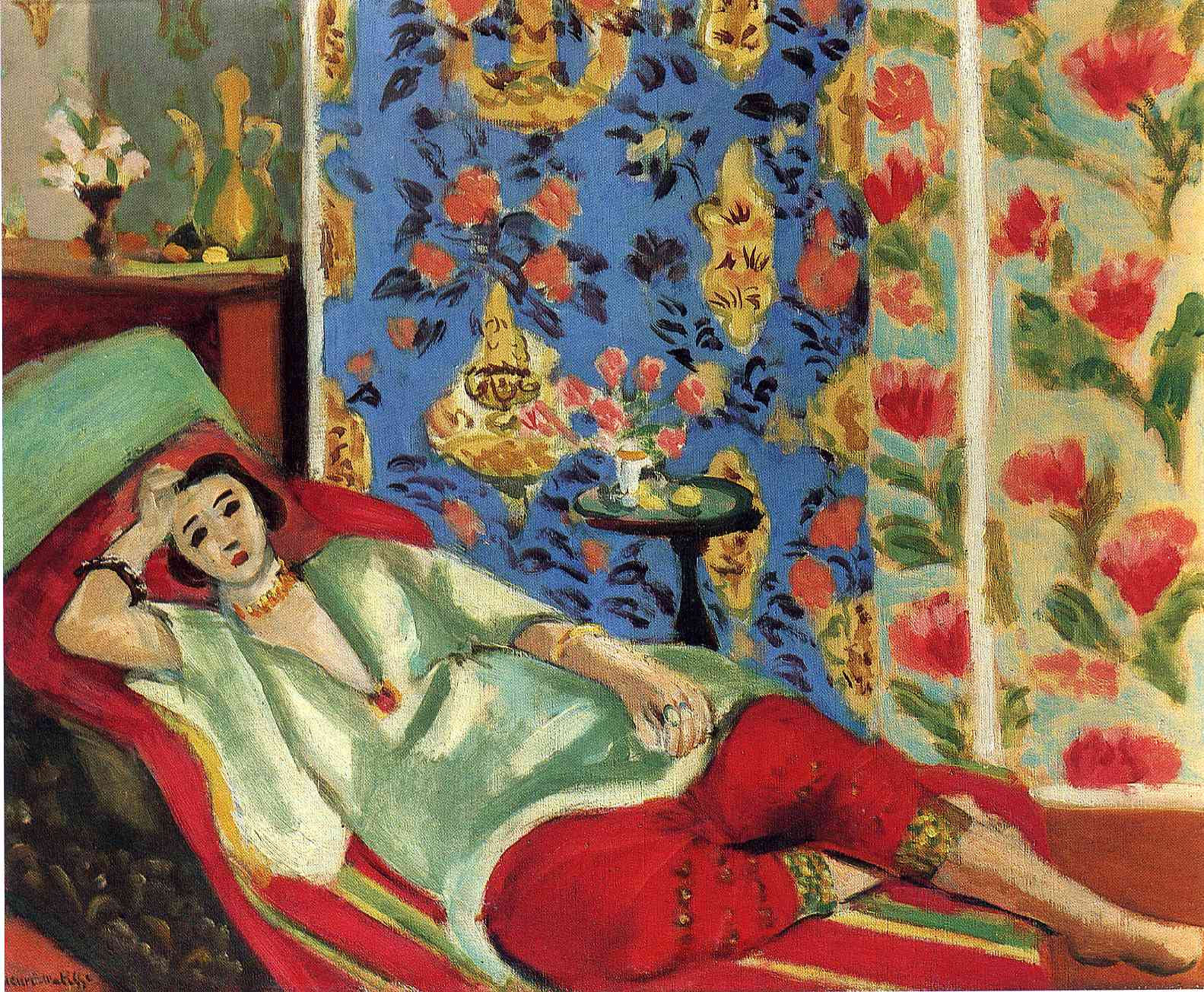 Henri Matisse - Odalisque in red trousers 1921