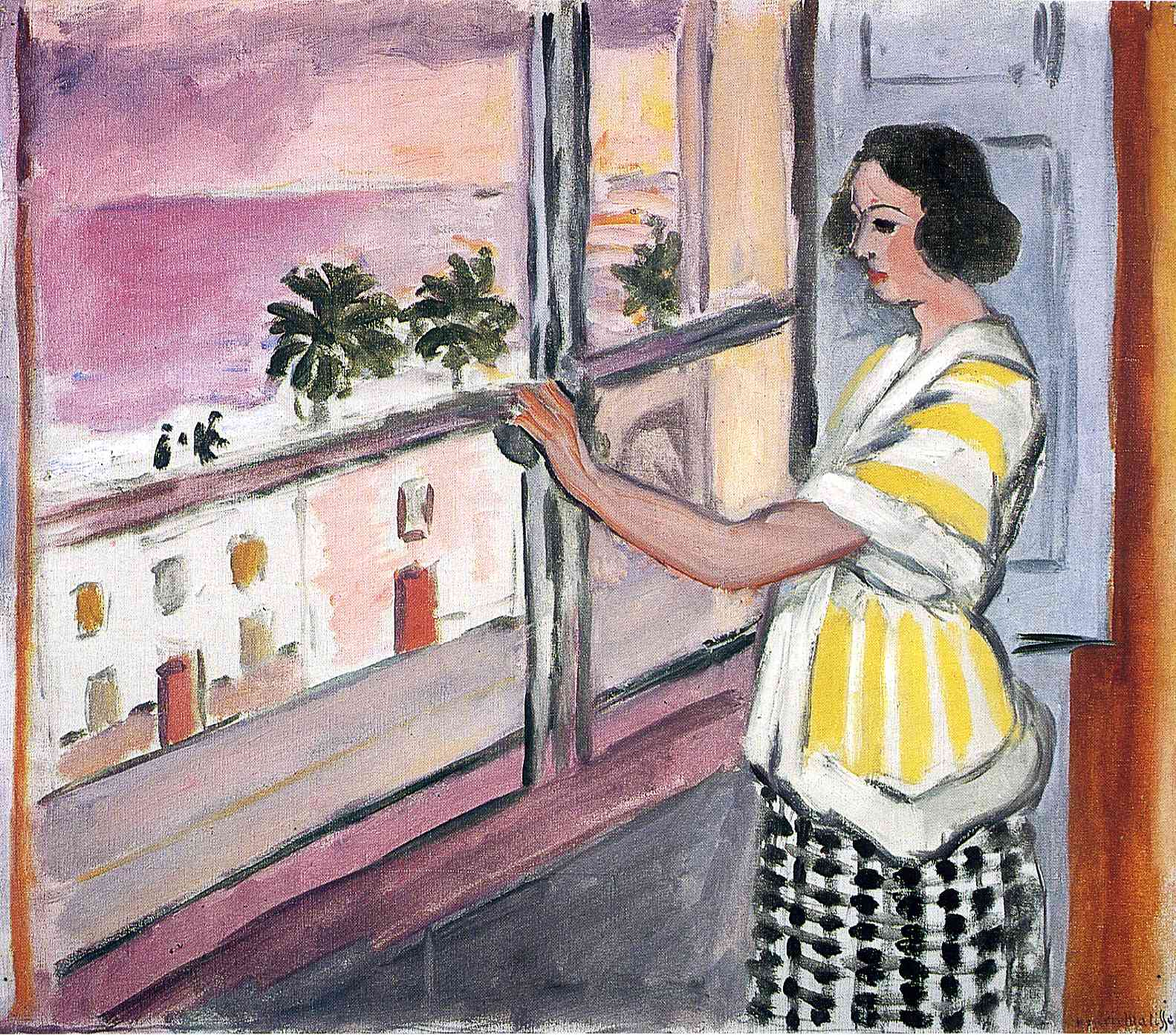 Henri Matisse - Young Woman at the Window, Sunset 1921