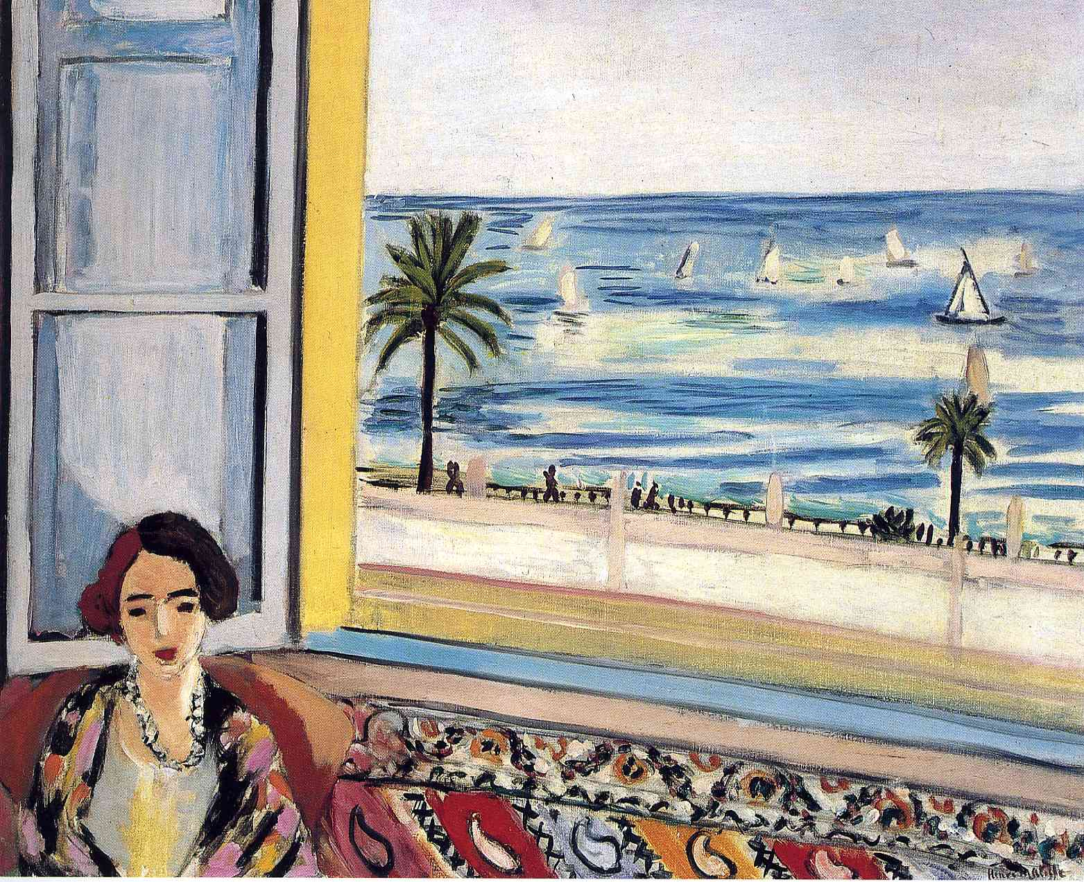 Henri Matisse - Seated Woman, Back Turned to the Open Window 1922