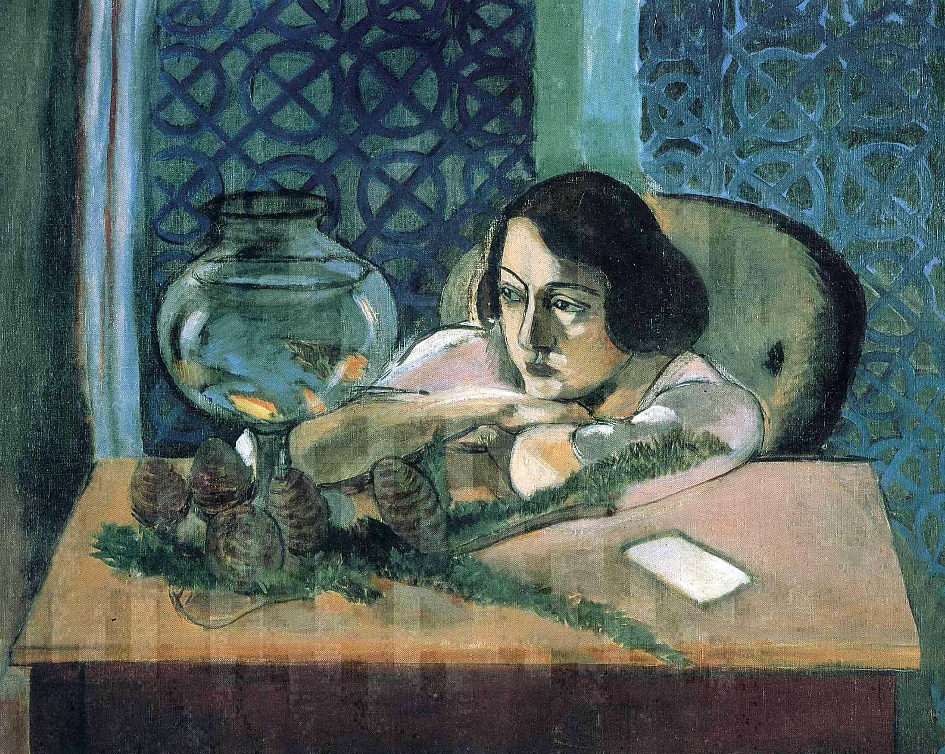 Henri Matisse - Woman Before a Fish Bowl. Woman Before an Aquarium 1922