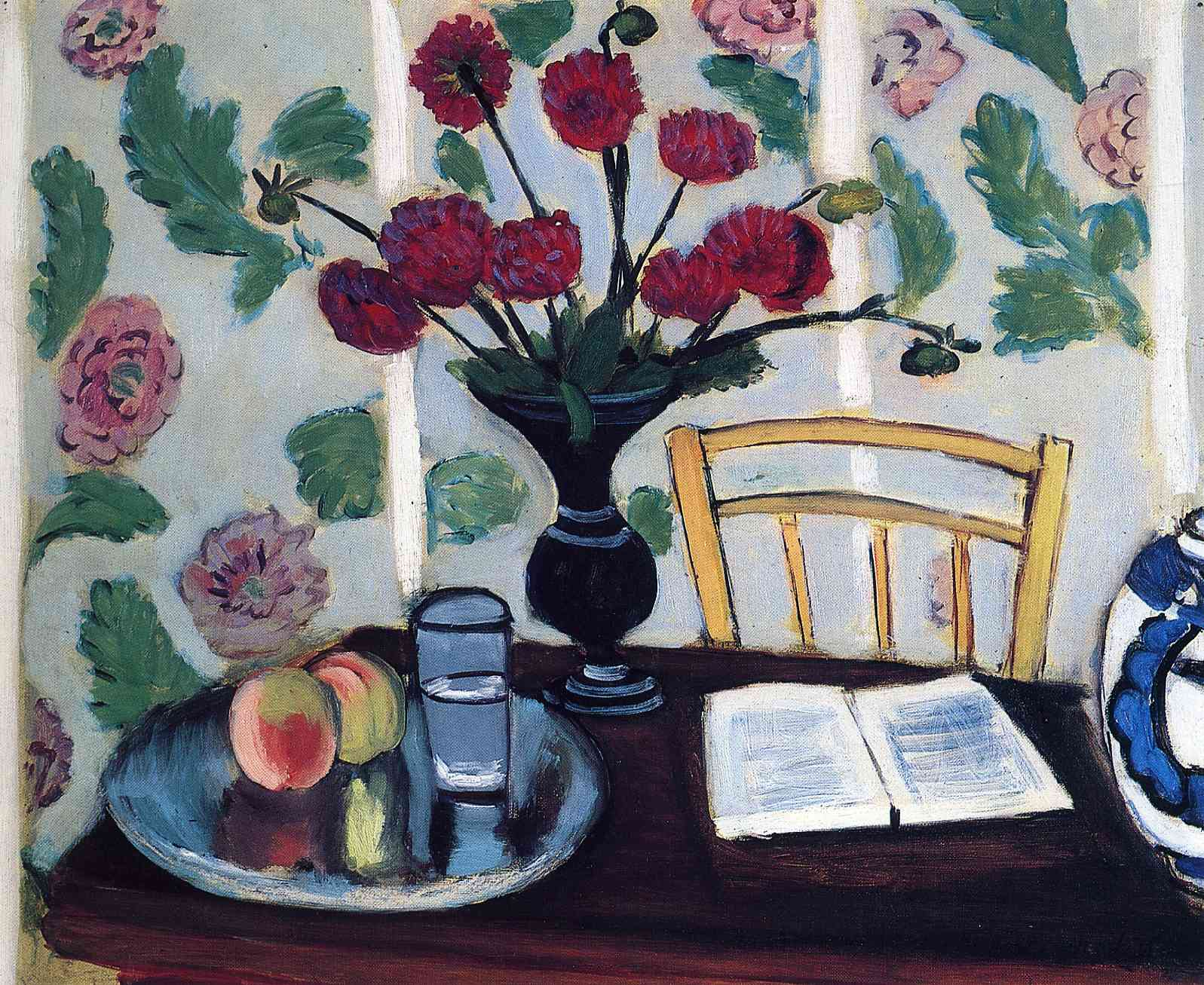 Henri Matisse - Bouquet of Dahlias and White Book 1923