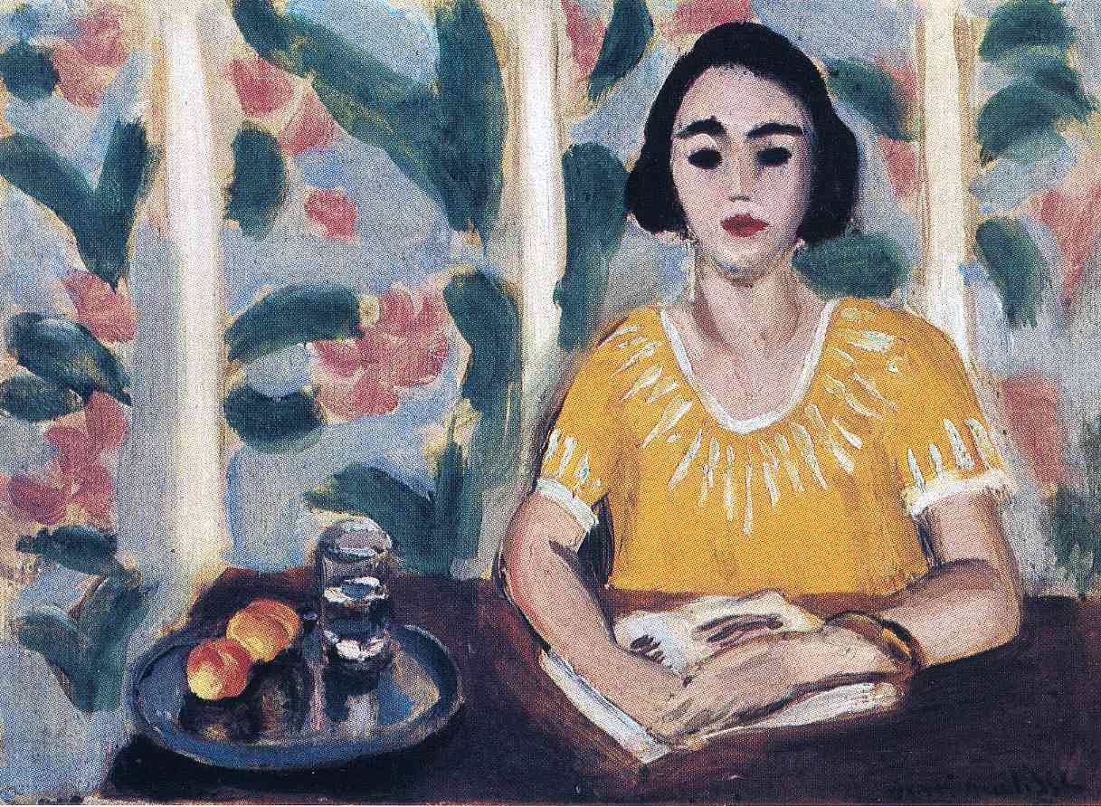 Henri Matisse - Woman Reading with Peaches 1923