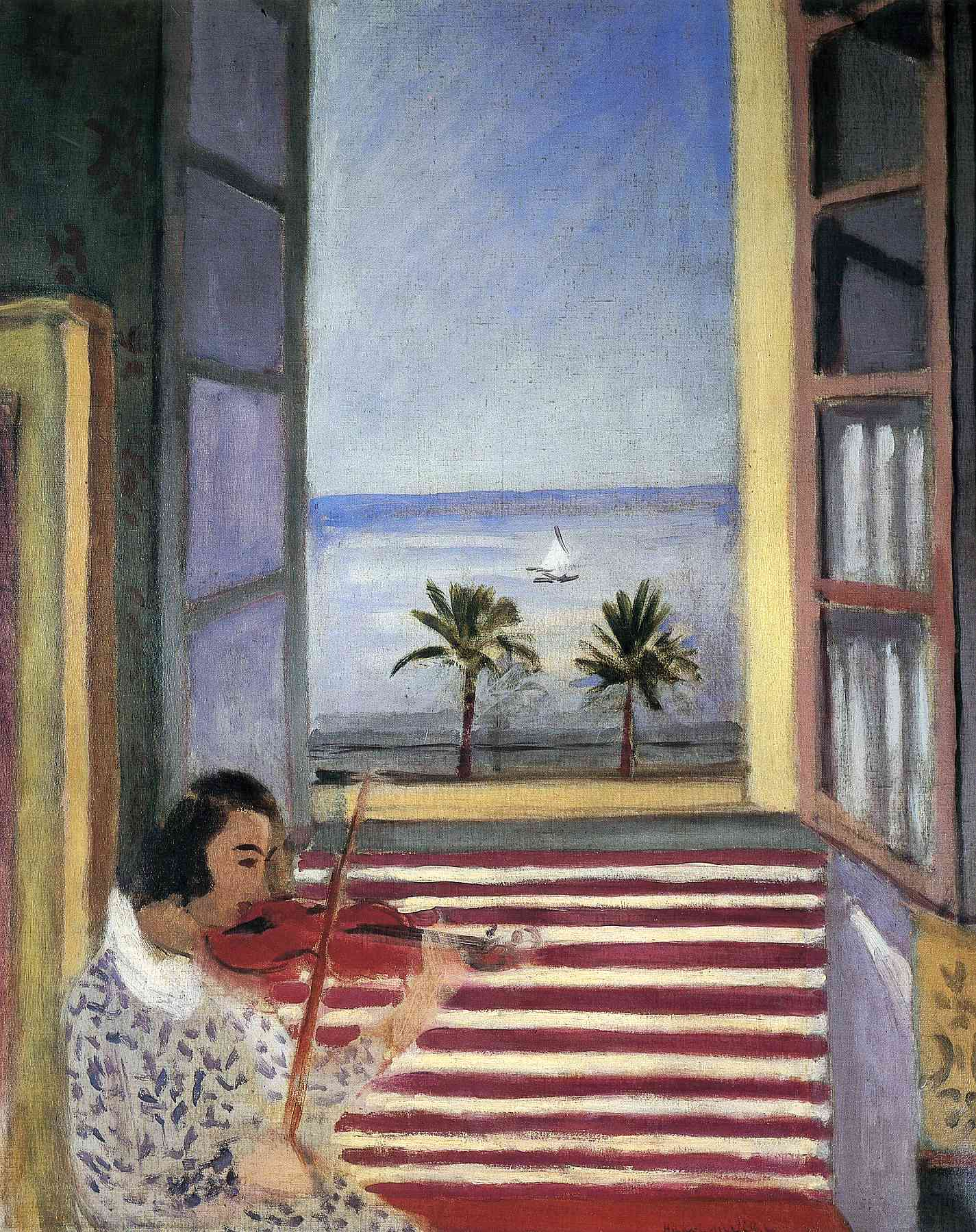 Henri Matisse - Young Woman Playing Violin 1923