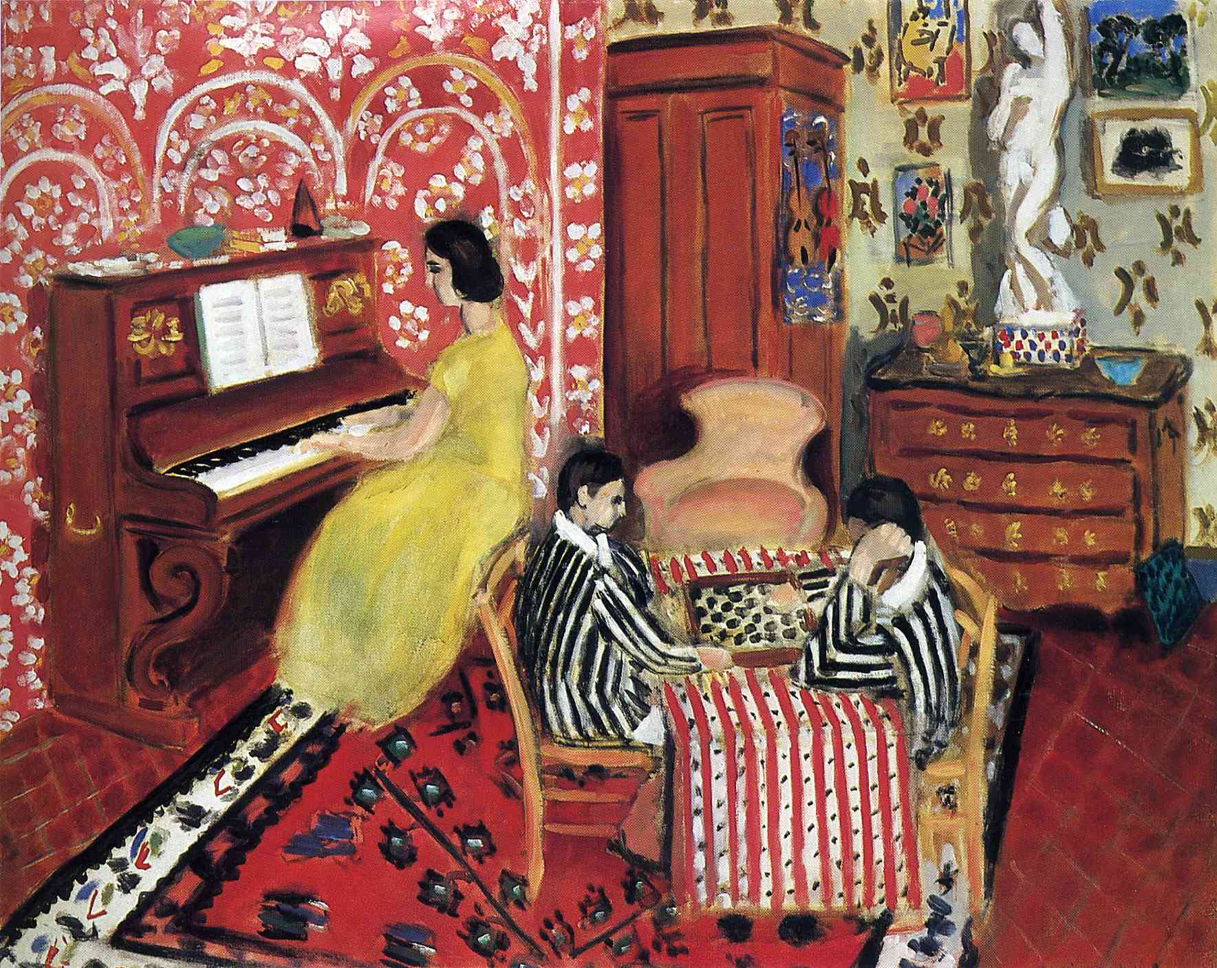 Henri Matisse - Pianist and Checker Players 1924