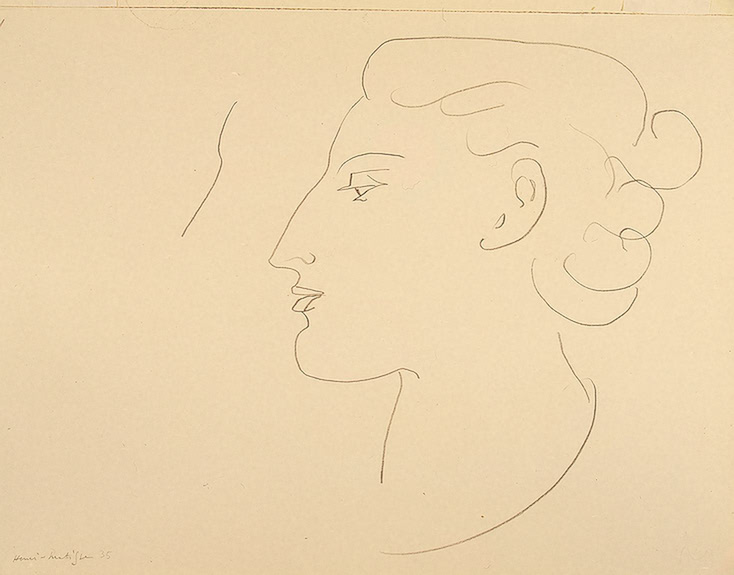 Henri Matisse - Woman in Profile. Turned to the Left 1935
