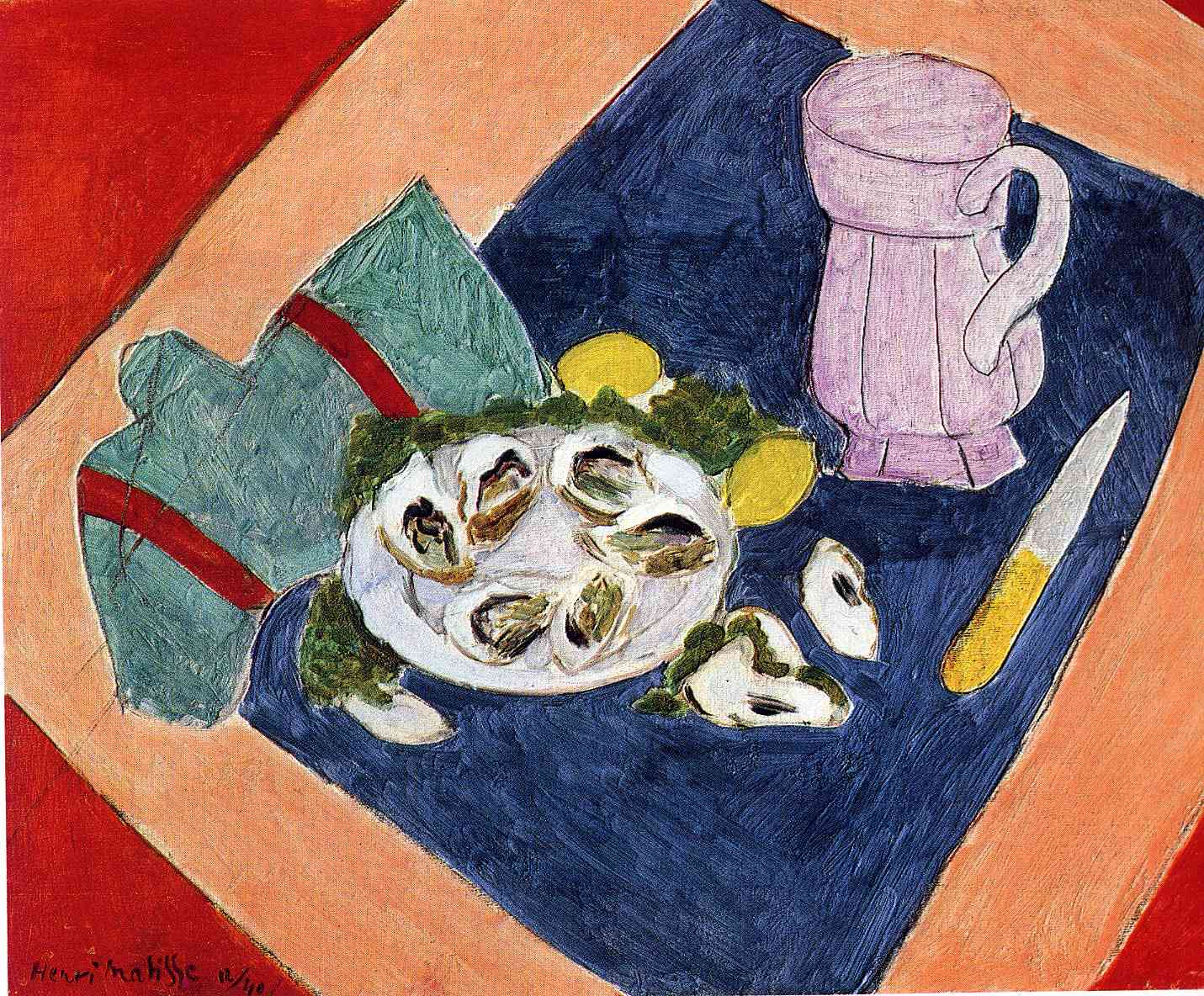 Henri Matisse - Still Life with Oysters 1940