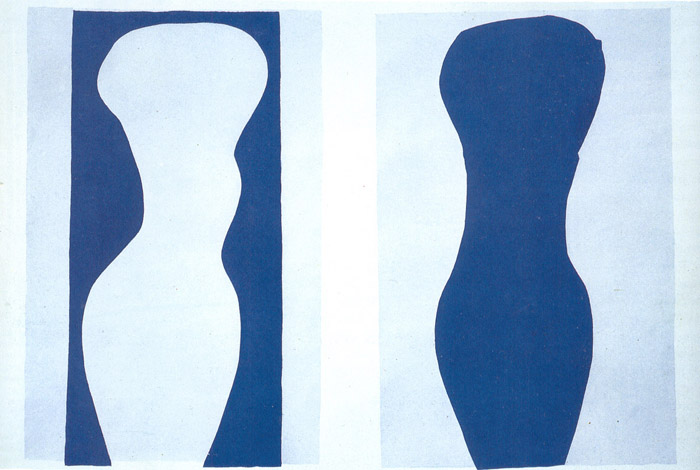 Henri Matisse - White Torso and Blue Torso 1944