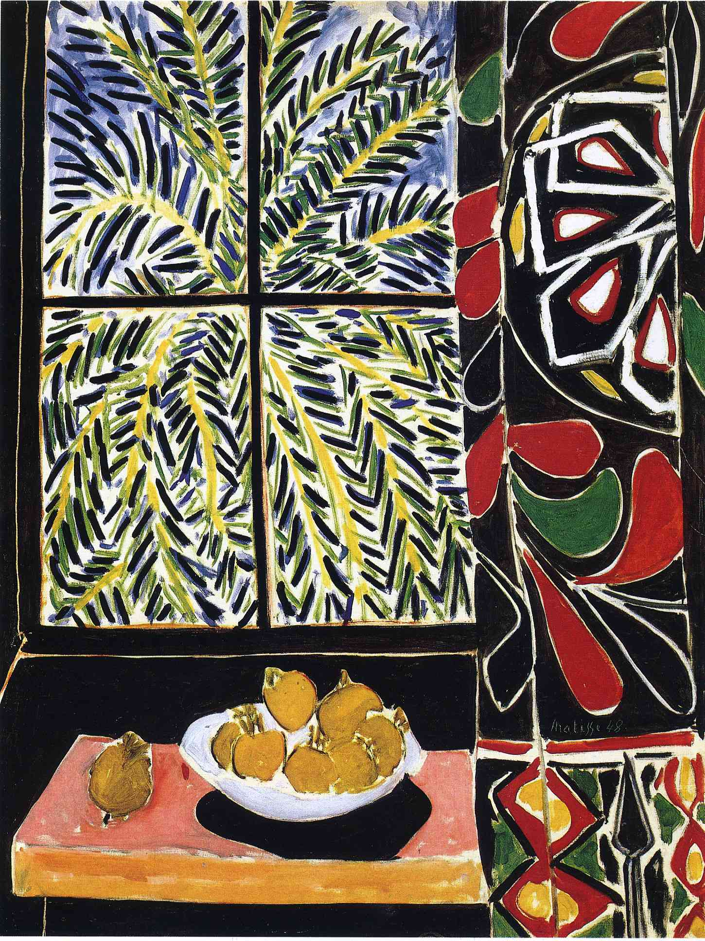 Henri Matisse - Interior with Egyptian Curtain 1948