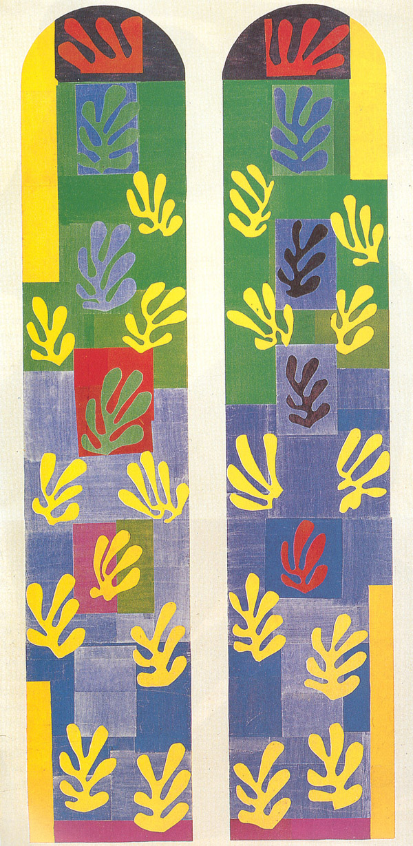Henri Matisse - Stained Glass Window Window of the abside of the Rosary Chapel 1949