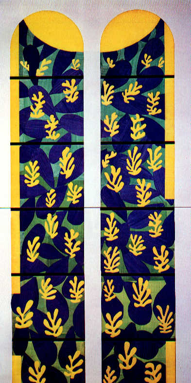 Henri Matisse - Tree of Life Stained Glass behind the Altar in the Chapel of the Rosary at Vence 1951