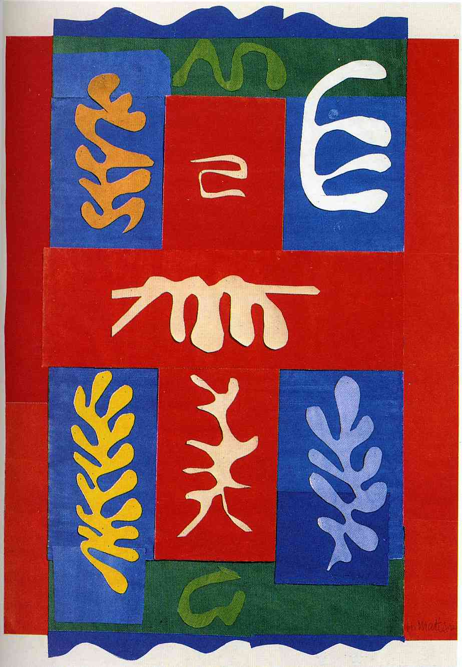 Henri Matisse - Composition with Red Cross 1947