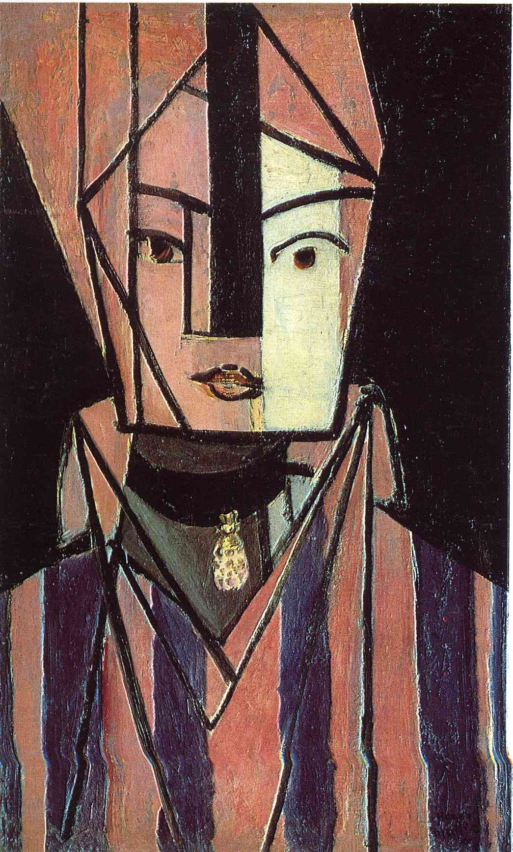 Henri Matisse - Head white and pink 1914