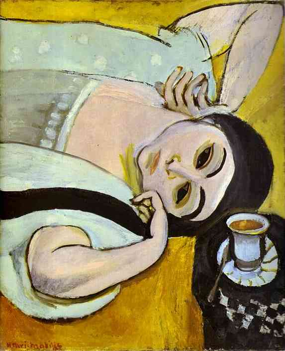 Henri Matisse - Laurette's Head with a Coffee Cup 1917