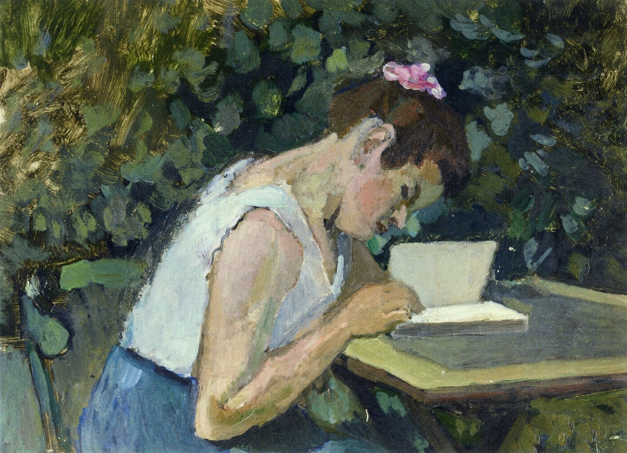 Henri Matisse - Woman Reading in a Garden 1903