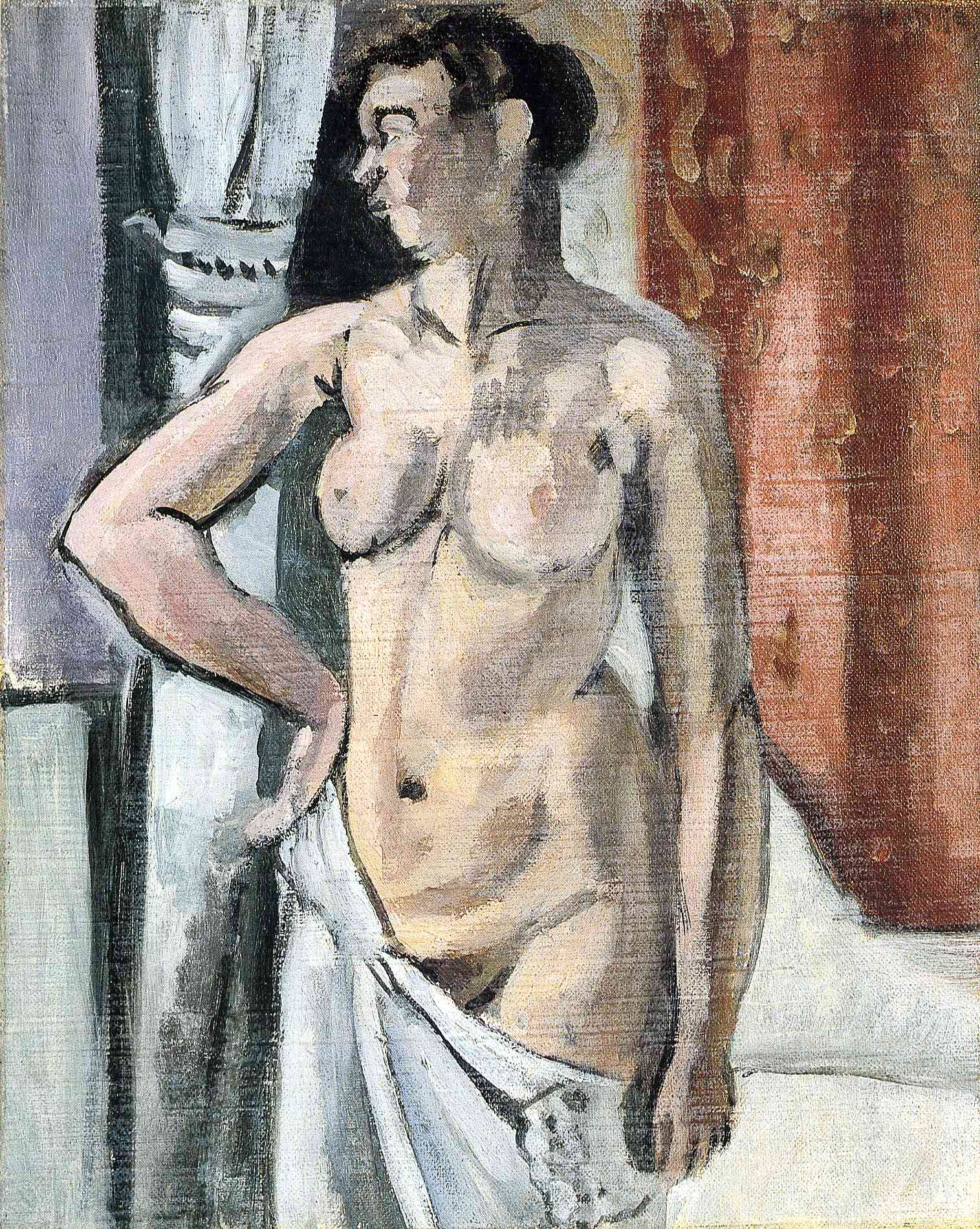 Henri Matisse - Nude with Drapery 1918