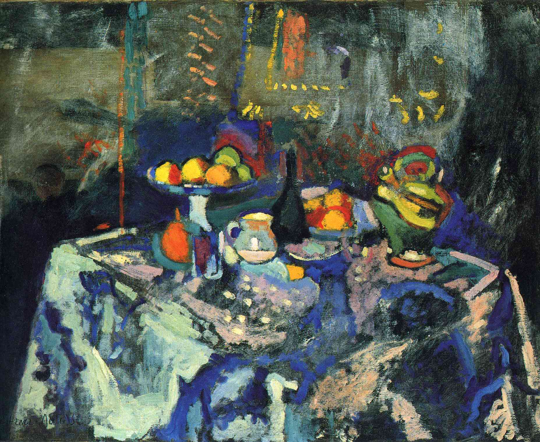 Henri Matisse - Still Life with Vase, Bottle and Fruit 1906