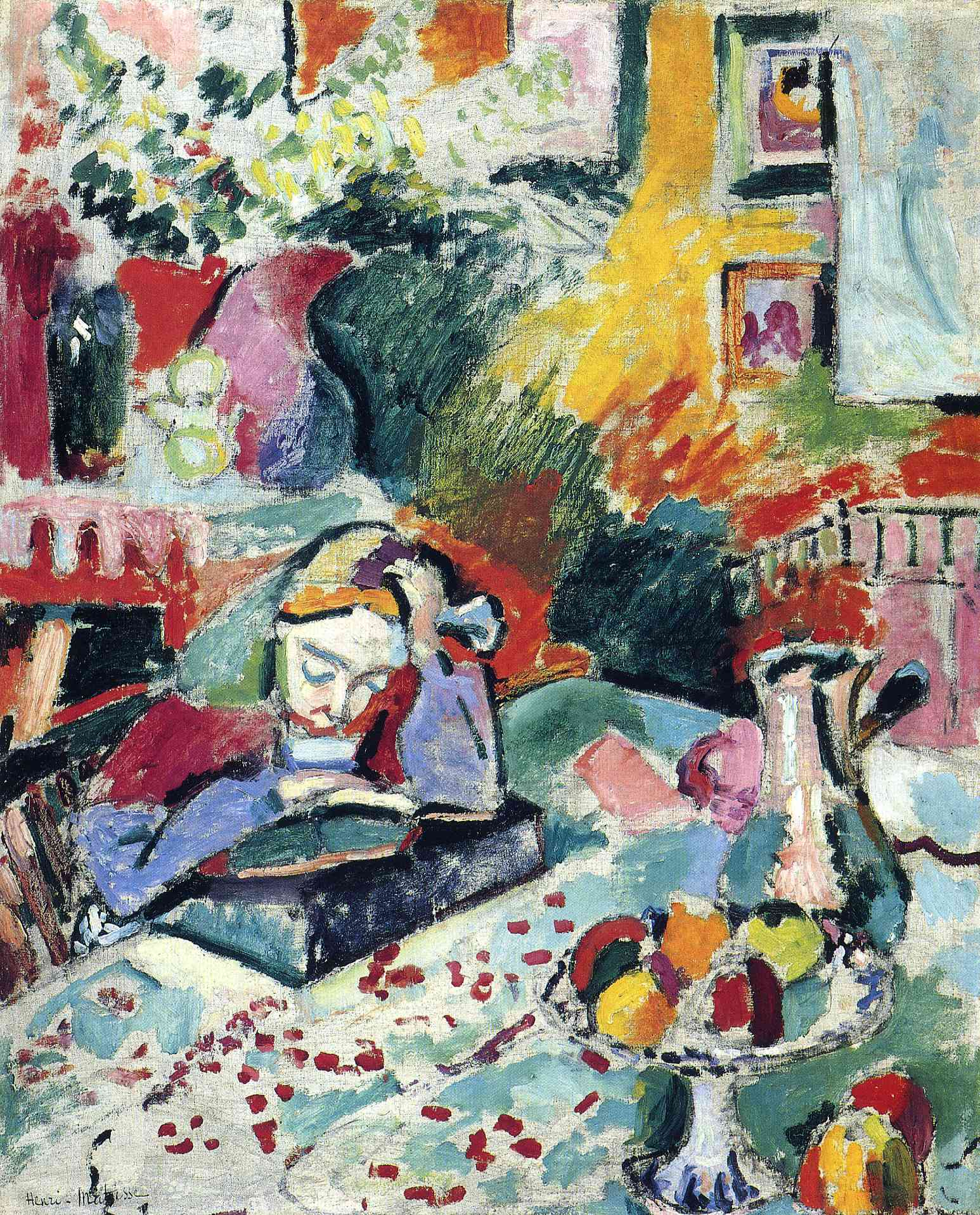 Henri Matisse - Interior with a Girl Reading 1905