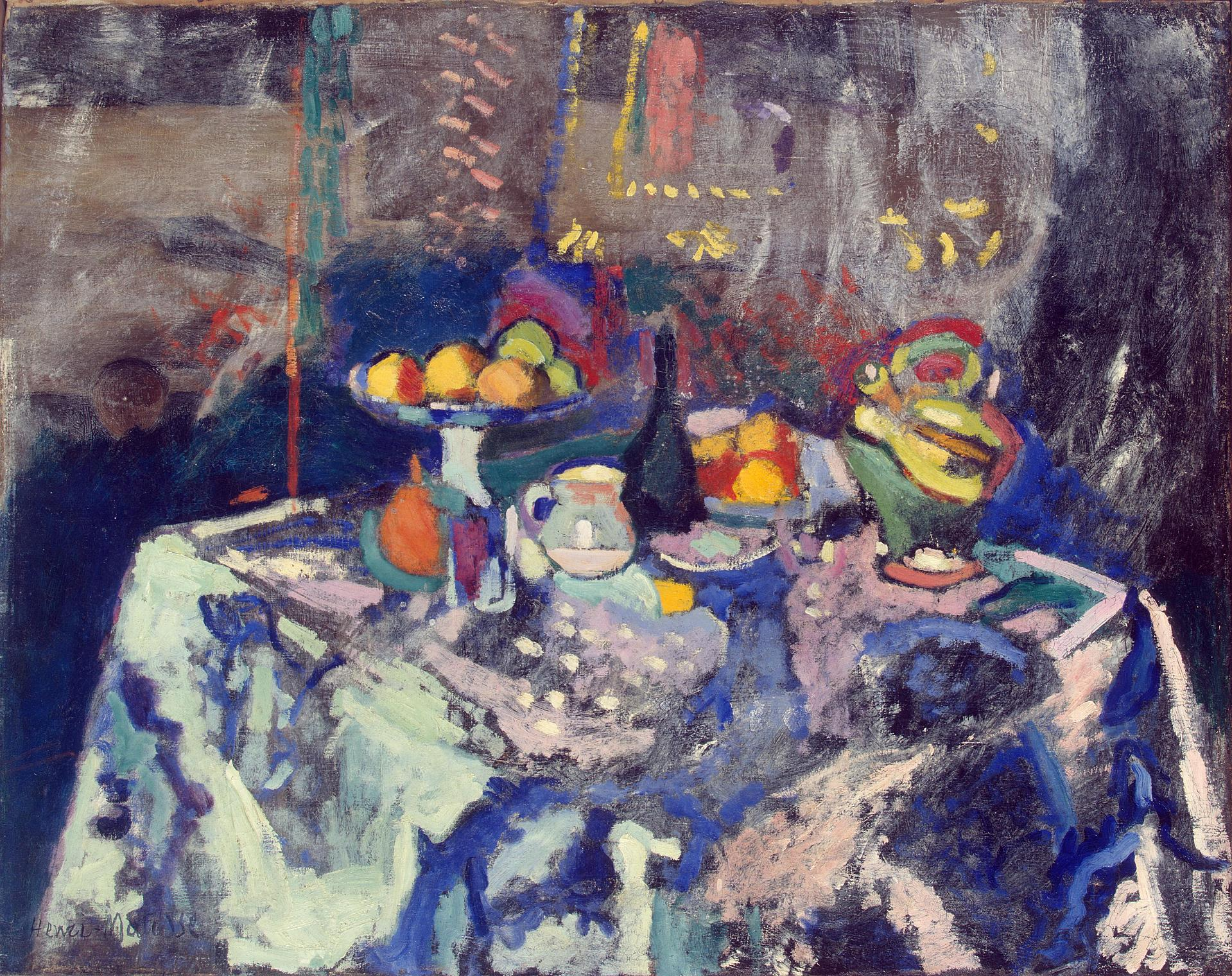 Henri Matisse - Vase, Bottle and Fruit 1906
