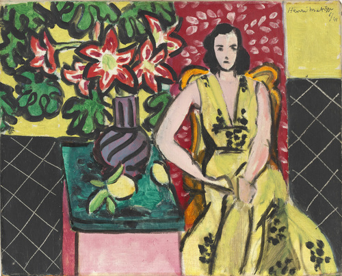 Henri Matisse - Seated Woman with a Vase of Amaryllis 1941