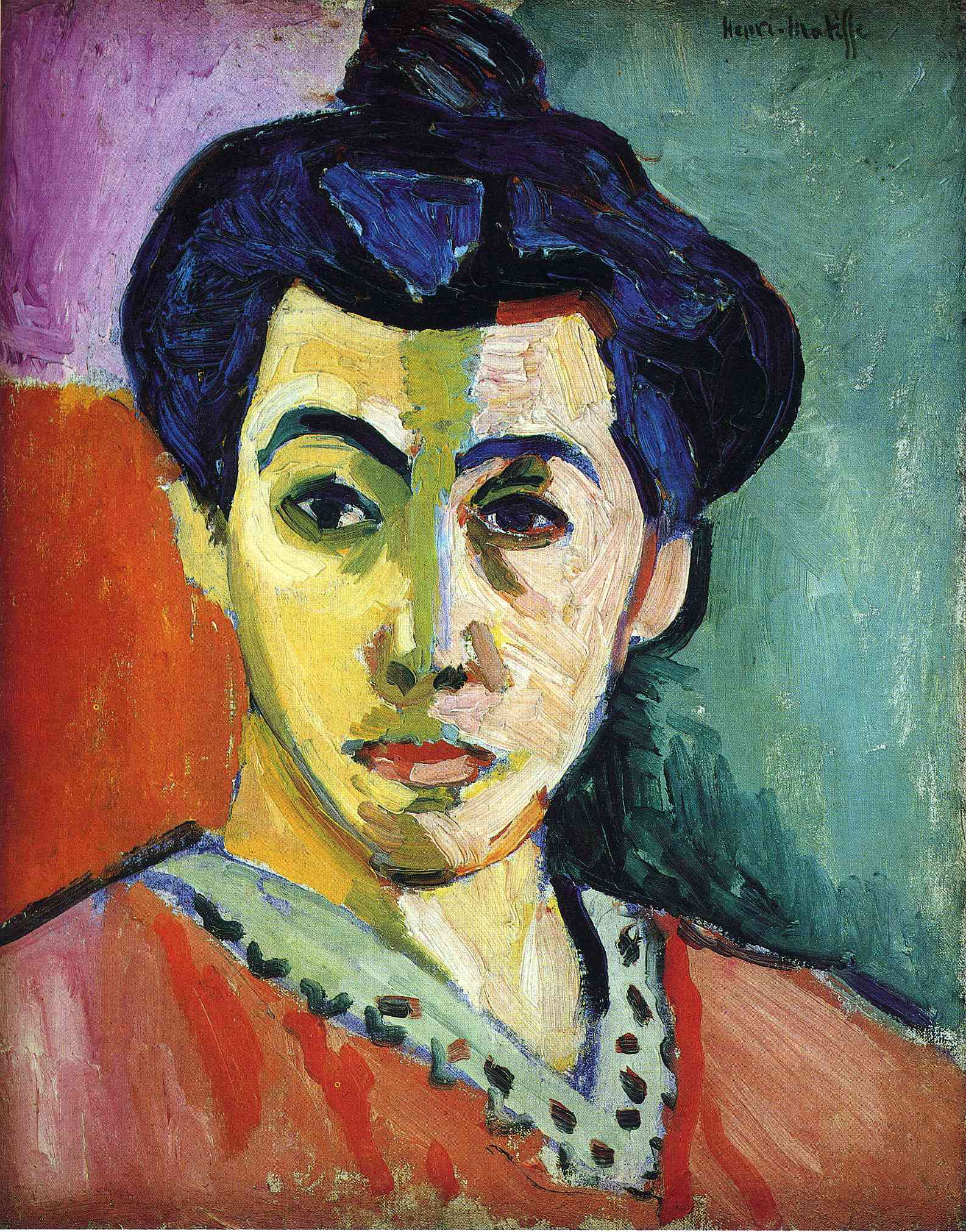 Henri Matisse - Portrait of Madame Matisse. Green Stripe 1905