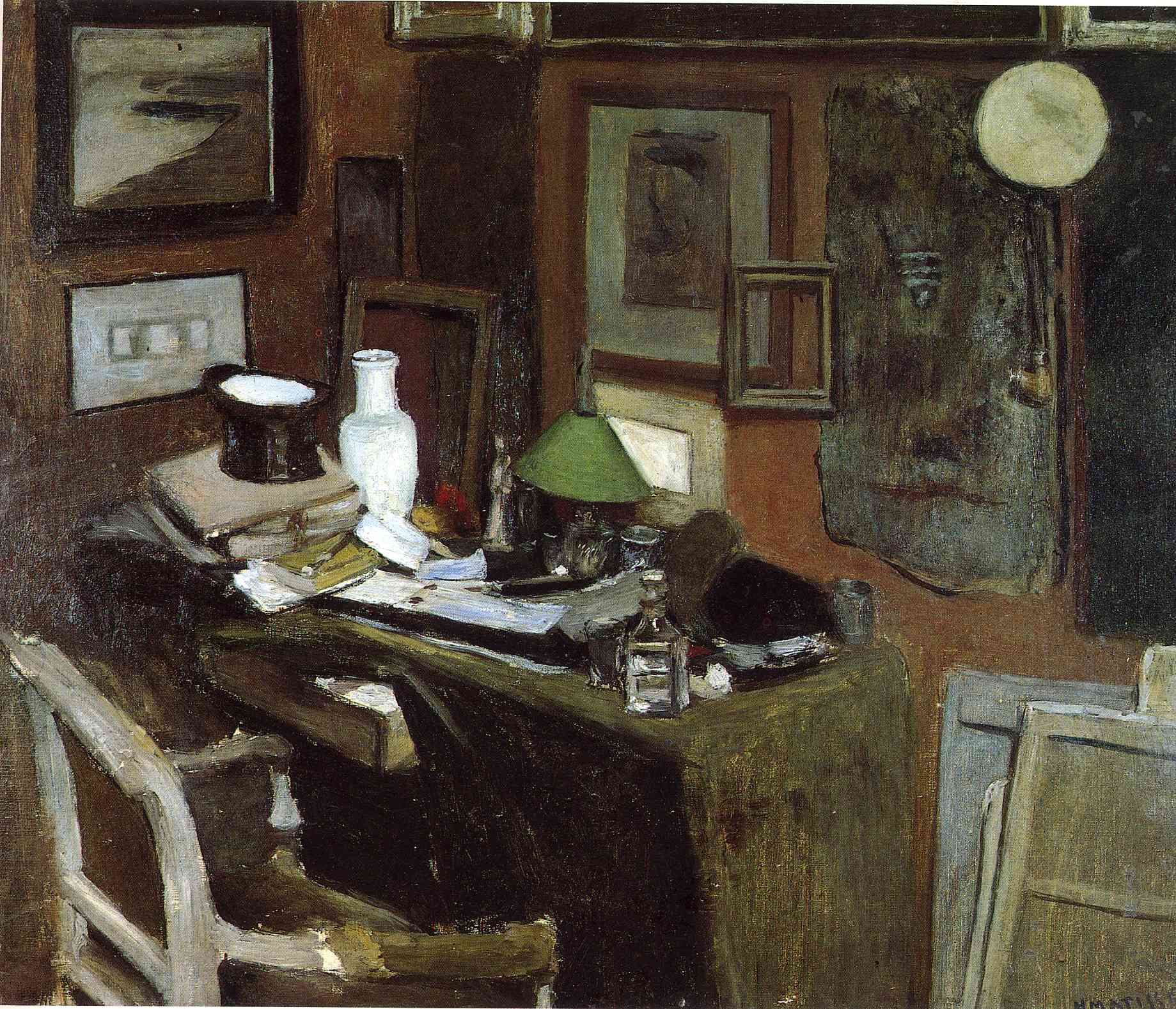 Henri Matisse - Interior with a top hat 1896