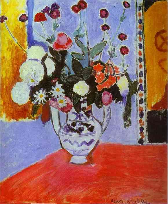 Henri Matisse - Vase with Two Handles. A Bunch of Flowers 1907