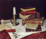 Still Life with Books and Candle 1890
