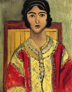 Lorette with a Red Dress 1917