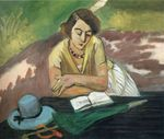 Reading Woman with Parasol 1921