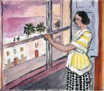 Young Woman at the Window, Sunset 1921