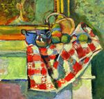 Still Life with a Checked Tablecloth  1903