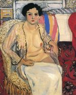 Woman Seated on an Armchair, Open Robe 1923