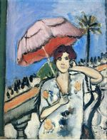 Woman with Umbrella 1920