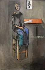 Woman on a High Stool 1914