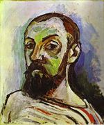 Self-Portrait in a Striped T-Shirt 1906