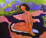 Pink Nude, or Seated Nude 1909